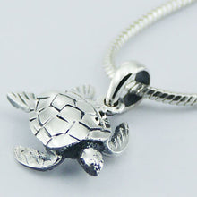 Load image into Gallery viewer, .925 Sterling Silver Turtle Pendant