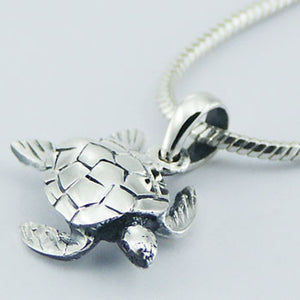 .925 Sterling Silver Turtle Pendant