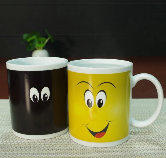Tasse sourire thermosensible
