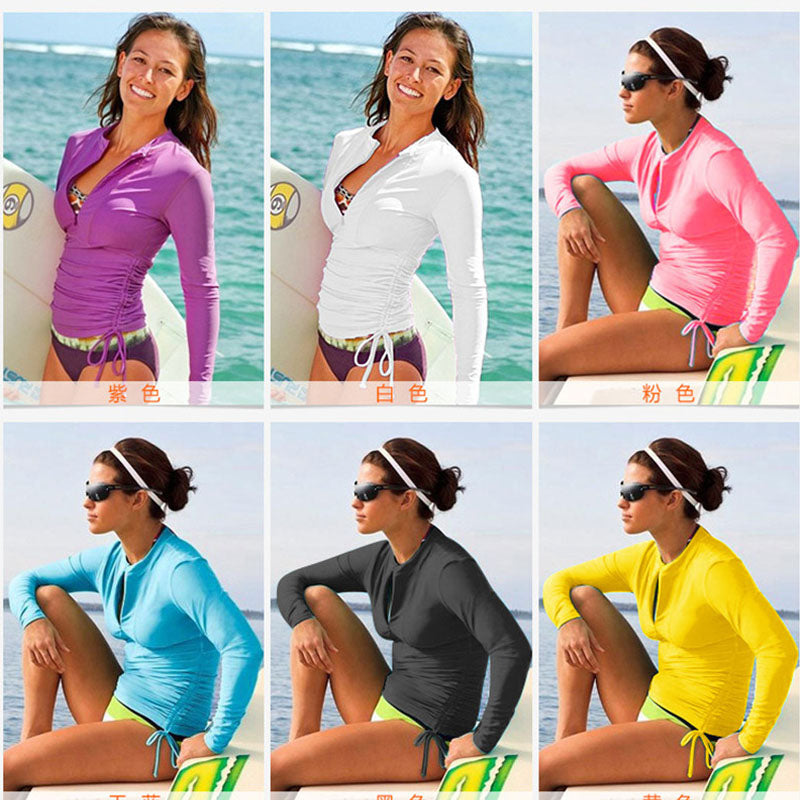 Long Sleeve Womens UV Rashguard Jacket