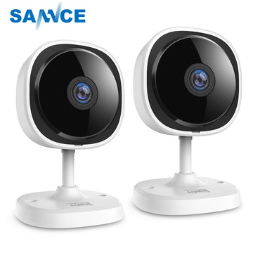 SANNCE  2piece HD 1080P Fisheye IP Wireless WiFi Mini Camara Night Vision IR