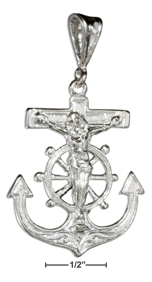 Sterling Silver Mariners Cross Pendant