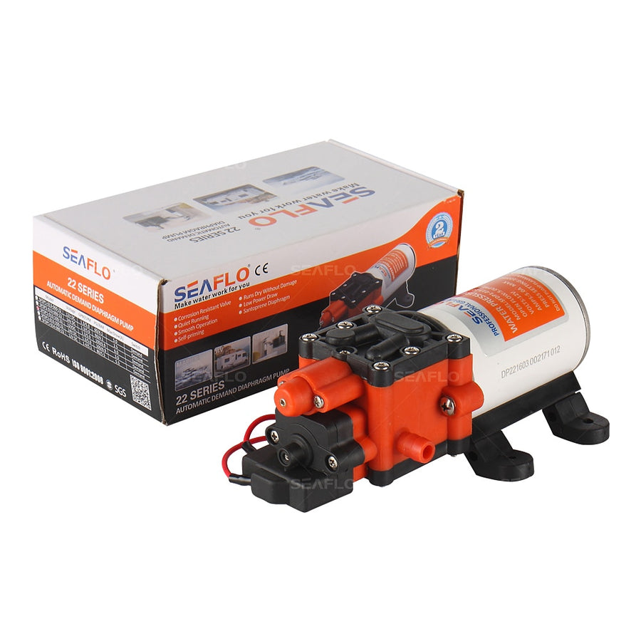 SEAFLO 24 v dc Motor High Pressure Water Pump 100PSI 1.3 GPM Diaphragm Pump