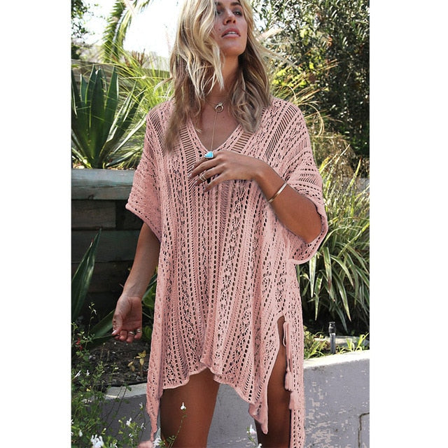 Crochet Knitted Beach Cover Up