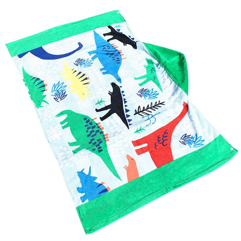 Hooded Towel Beach Wrap Children Kids Large Poncho Hooded Bath Swim Towel Quick Dry Bathrobe (Dinosaurs)