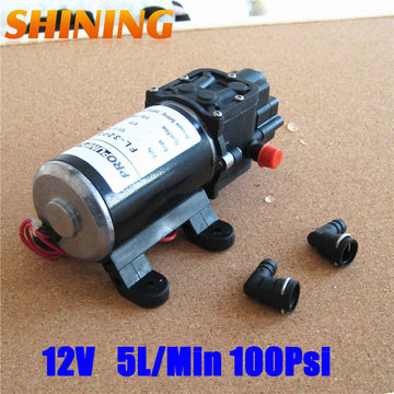 High Pressure DC 12V 5L/min 100Psi Micro Electric Self-Priming Pump