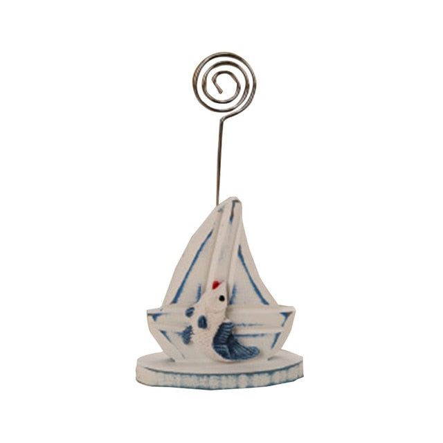 Wooden Sailboat Household Ornaments