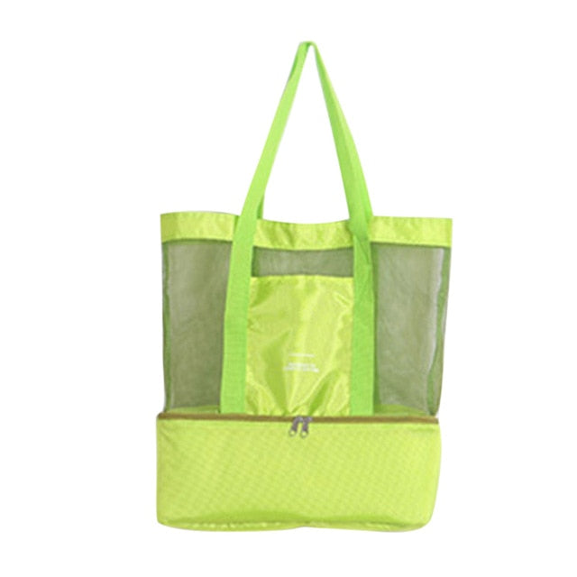 High Capacity Mesh Transparent Beach/Picnic double-layer Bag
