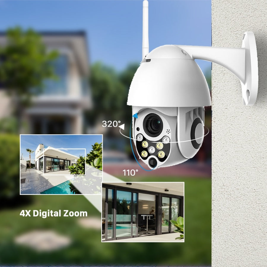 BESDER 1080P Cloud Storage Wireless PTZ IP Camera Speed Dome CCTV Security Cameras Outdoor ONVIF Two Way Audio P2P Camera WIFI