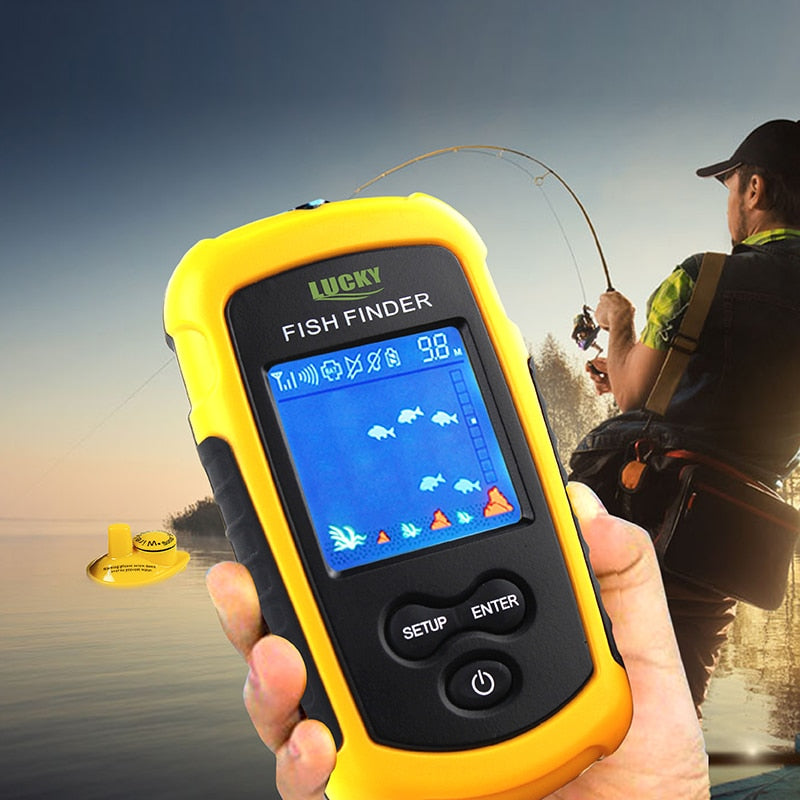 Portable sonar Fish Finder FFCW1108-1 color lcd display for fishing