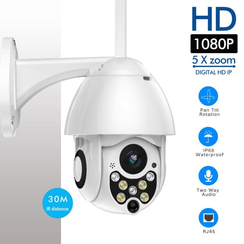 1080P PTZ IP Camera Outdoor Speed Dome Wireless Wifi Security Camera Pan Tilt 4X Zoom IR Network CCTV Surveillance Home Security