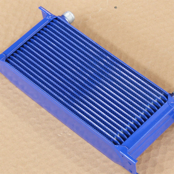 Universal 17 Row AN10 Engine Transmission Aluminum Oil Cooler Mocal Style Blu