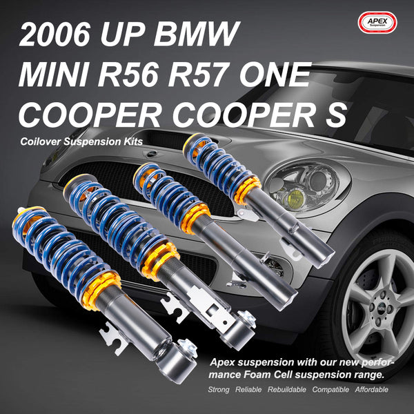 2006 Up BMW Mini R56 One/Cooper/Cooper S Coilover Suspension Kit