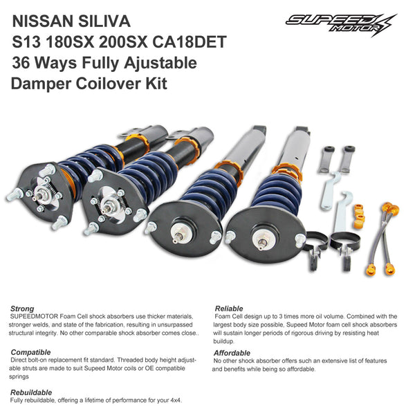 Nissan Silvia S13 180SX 200SX CA18DET Adjustable Damper Coilover Suspension
