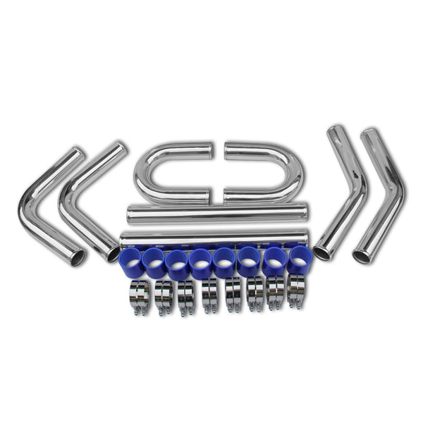 3¡° Universal Intercooler Piping 180 90 45 Degree polish hose kit Aluminum Piping