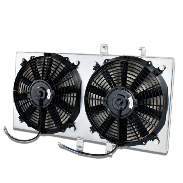 RADIATOR ALUMINUM FAN SHROUD 87-91 CIVIC EF (POLISHED FULL ALLOY RACE VERSION)