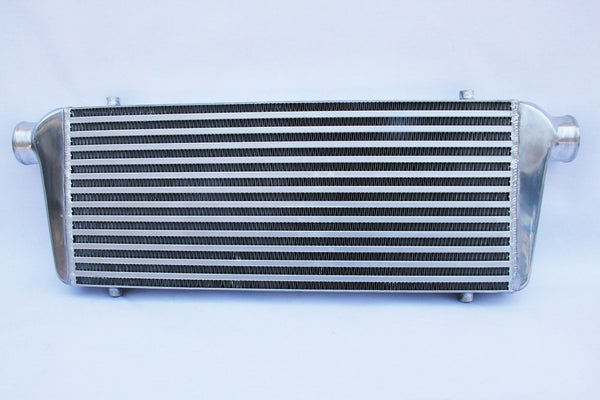 2.25 INLET AND OUTLET FFRONT MOUNT TURBO INTERCOOLER 550 x 230 x 65mm Core