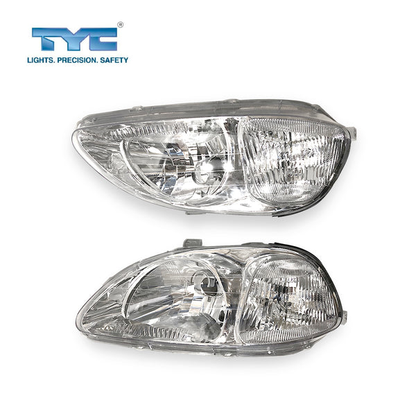 Fits Set Pair LH+RH Head Light Lamp For Honda Civic EK S1 95~98 Sedan Coupe Hatch