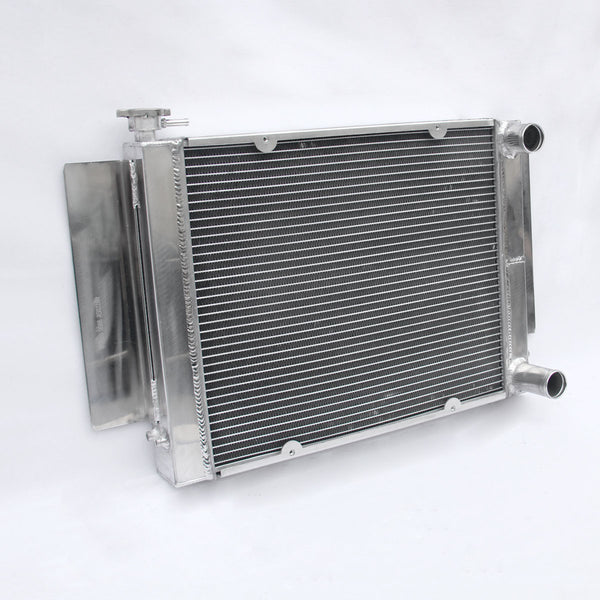 FULL ALUMINIUM RADIATOR For Mazda RX2 RX3 RX4 RX5 RX7 NO HEATER PIPE+FAN SHROUD