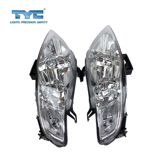 Fits Set Pair LH+RH Head Light Lamp Chrom For Ford Falcon FG Series 1 G6 G6E 08~11