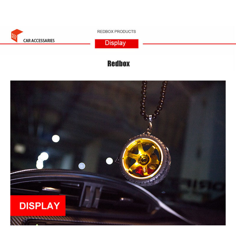 Car Hub Pendant HipHop Rearview Mirror Hanging Charm Dangling Ornament Pendant