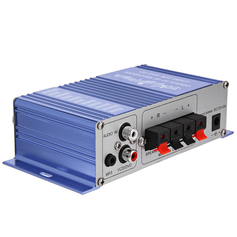 HY - 2002 Hi-Fi 12V Mini Auto Car Stereo Amplifier 2 Channel Audio Amplifier Support CD DVD MP3 Input for Motorcycle Home