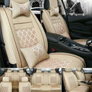 FITS AU PU Leather Car Seat Covers 5-Seats SUV Universal Front+Rear Cushion Full Set