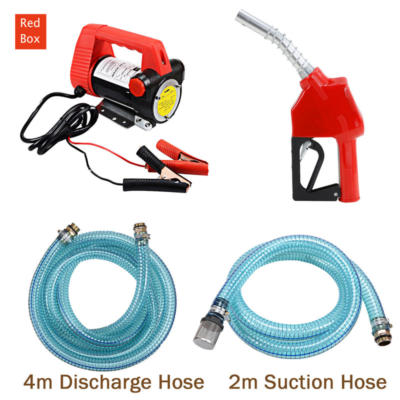 12V DC Electric Fuel Transfer Pump Diesel Oil Commercial Auto Portable