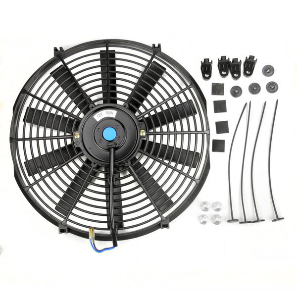 "12V 14"" Electric Push Pull Radiator Cooling Fan + Free Fitting Kit Universal"