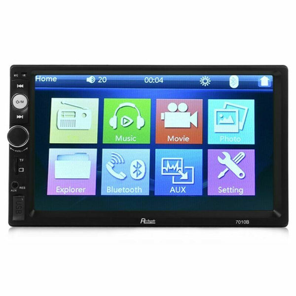 7010B 2 Din Car Video Player DVD 7 inch LCD Touch Screen Bluetooth FM Radio