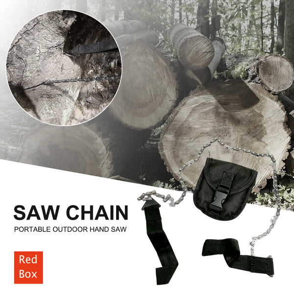 Survival Pocket Saw Portable Outdoor Hand Saw Chain Pruning Tree Saw Tool