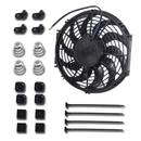 12 inch Fan Slim Radiator Cooling Thermo Electric Fan + Mounting Kits Universal