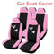 FITS 1 set Butterfly Seat Cover Pack-Pink,Universal 1 Set Car Seat Cover Front/Rear Seat MG