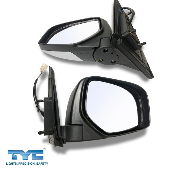 Fits Left And Right Electric Door Mirror Chrome For Mitsubishi Triton Ute MN ML 06~15 1pair