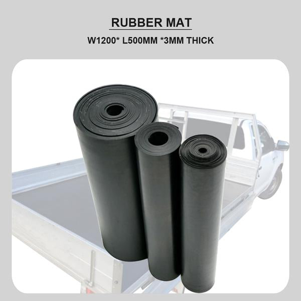 FITS NATURAL INSERTION RUBBER SHEET MATTING MAT W1200MM x 500MM X 3MM THICK
