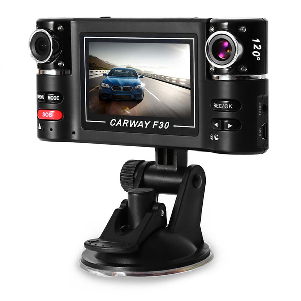 F30 2.7 inch Car DVR Camera Video Driving Recorder HD Dual Lens Dashboard Vehicle Camcorder