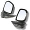 Fits Holden Colorado Door mirror Side mirror Left And Right driver side 2012-2016 Black 1 Pair