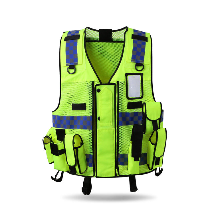 Tactic Security Vest Expandable Duty HighVisibility Multiple StoragePocket HiVis
