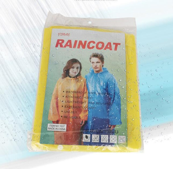 Fits Disposable Ponchos Adult Waterproof Raincoat Camping Hiking 10Pcs
