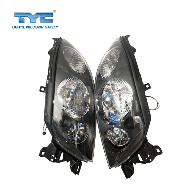 FITS Set Pair LH+RH Head Light Lamp Black For Ford Falcon / Fairmont AU 98~02