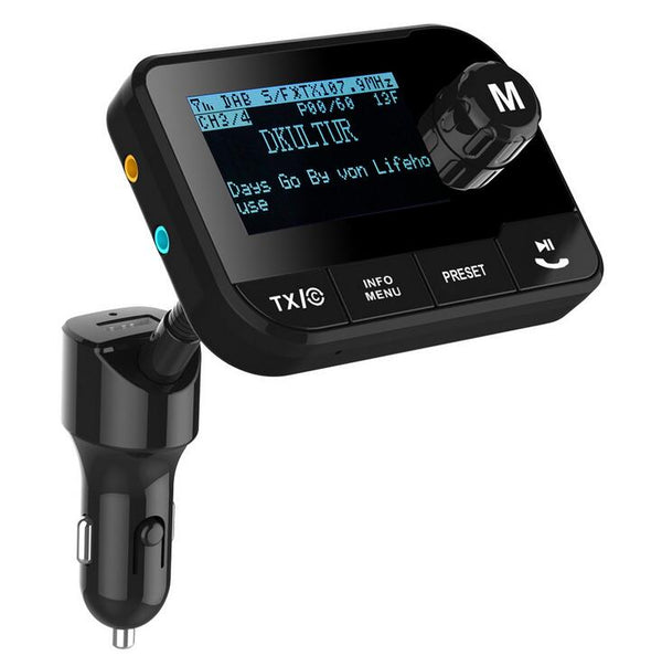 In Car DAB+ Radio Adapter FM Transmitter,Bluetooth MP3 Music Receiver Handsfree