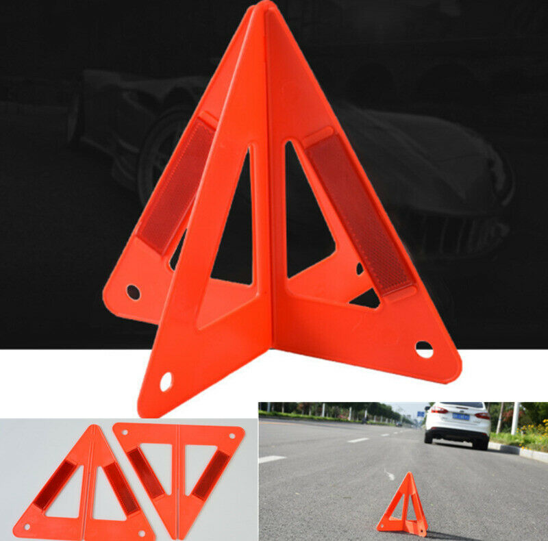 Car Reflective Triangle Emergency Breakdown Sign Safety Road Red Warning Auto