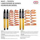 90-97 TOYOTA LANDCRUISER 80 SERIES HZJ80/HDJ80 DIESEL SUSPENSION KITS