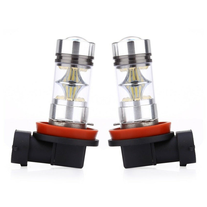 2 PCES Pair of Universal Automobile H11 100W 6000K LED Fog Lamp