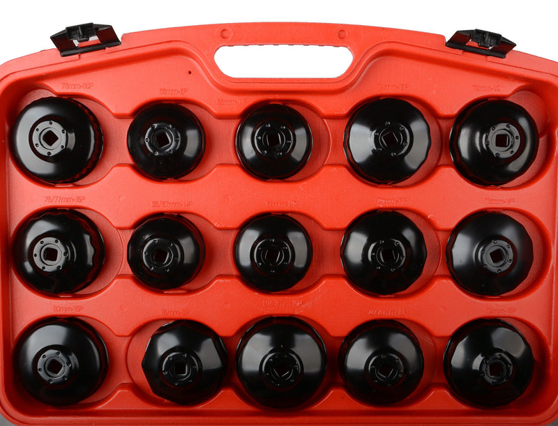 30pcs Cup Type Oil Filter Remover Wrench Tool Set Removal Socket Set Kits