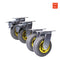 "4X 6""150mm Heavy Duty Swivel Caster Wheels Castor 2 with Brakes 1000KG Load"