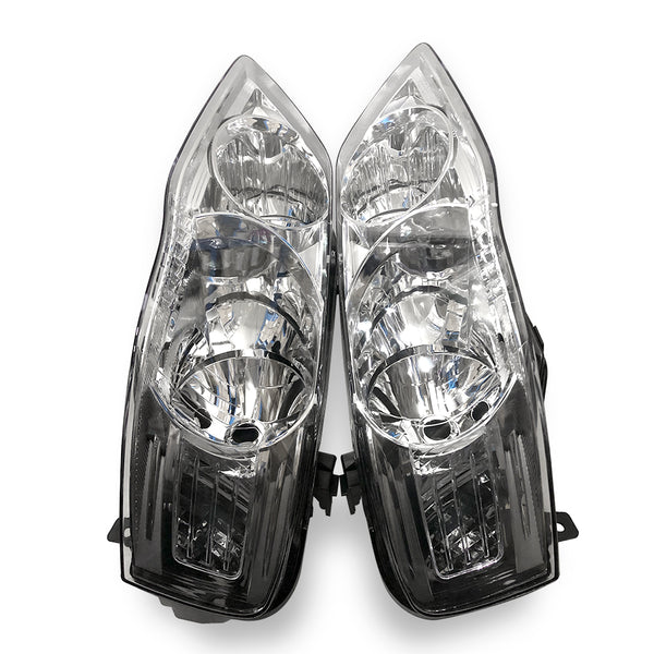 Fits Ford BF series 2 / 3 Falcon LH + RH Headlights a Pair Chrome 2006-201