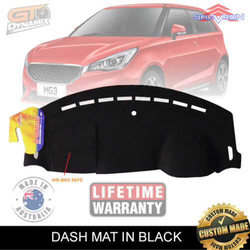 Dash Mat fits for MG MG3 Excite CORE Hatchback 5 Door 9/2016-2020 MY18 Black DM1544