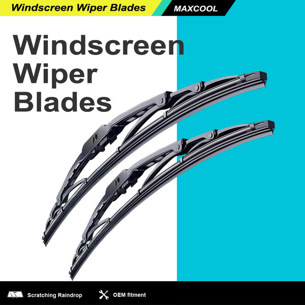 Metal Frame Wiper Blades For Toyota Landcruiser 80 Series 90-98 (PAIR)