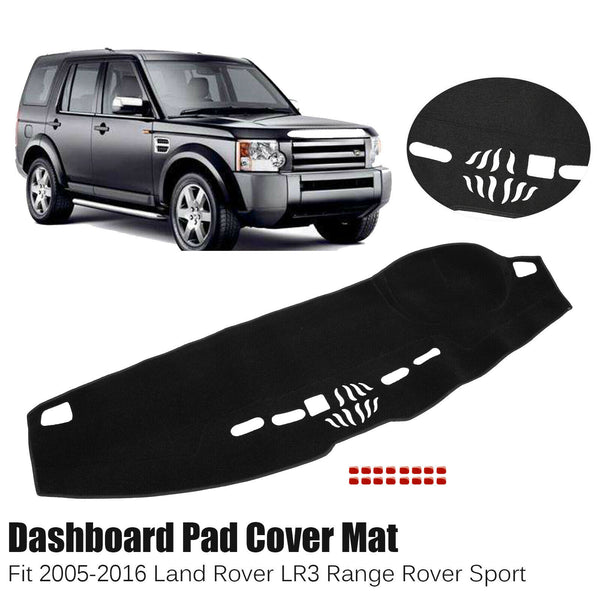 Dash Cover Mat Dashmat Dashboard For 2005-2016 Land Rover LR3 Range Rover Sport